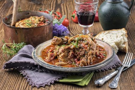 French chicken Basque chicken stew Stock Photo