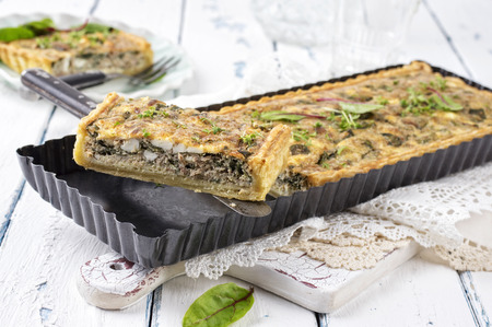 emaille: french pastry  tuna tart Stock Photo