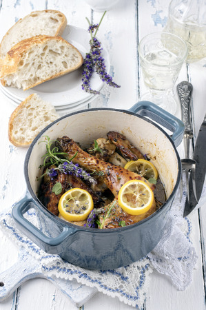 Lavender Chicken in Nordic Style Pot