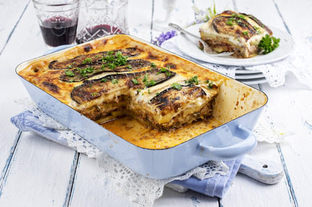 gelb: greek moussaka Stock Photo