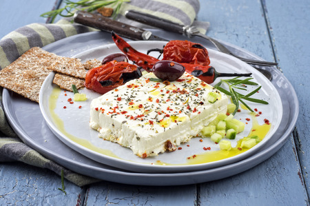 feta cheese grilled with spicies