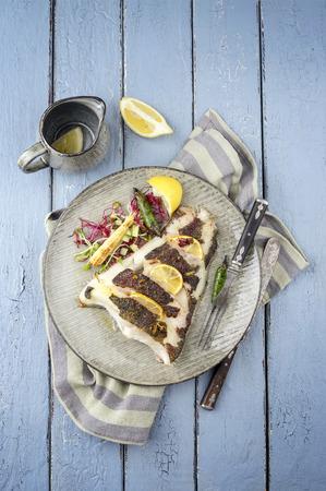 halibut: grilled halibut Stock Photo