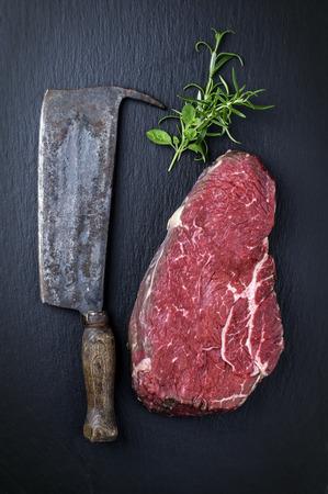 Onderkant Ronde Steak Stockfoto