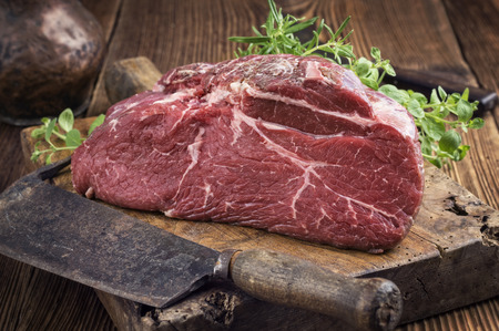 fillets: Bottom Round Steak Stock Photo