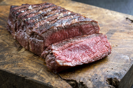 fillets: Sirloin Steak Stock Photo