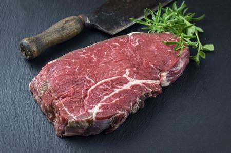 bottom: Bottom Round Steak Stock Photo
