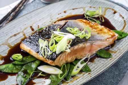salmons: Salmon Teriyaki with Vegetable