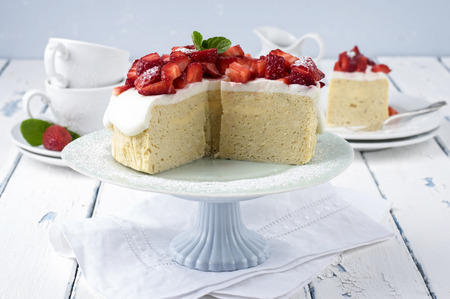 custard slices: Strawberry Cheese Cake