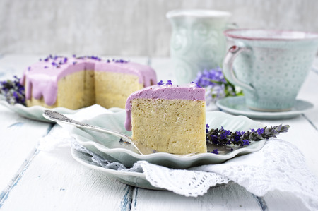 porcion de torta: Lavanda Cheese Cake