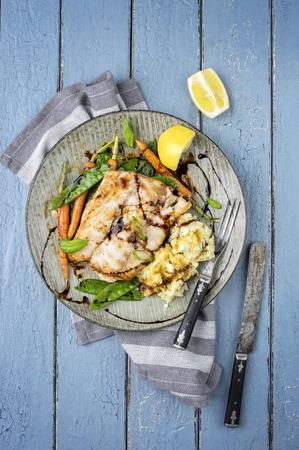 coalfish: Coalfish Filet Teriyaki with Vegetable