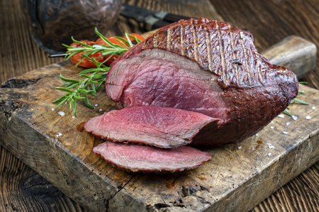 venison: Barbecue Haunch of Venison Stock Photo