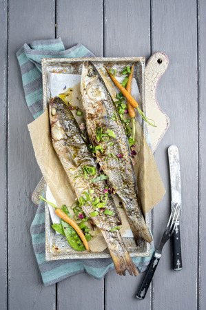 grey mullet: Barbecue Mullet