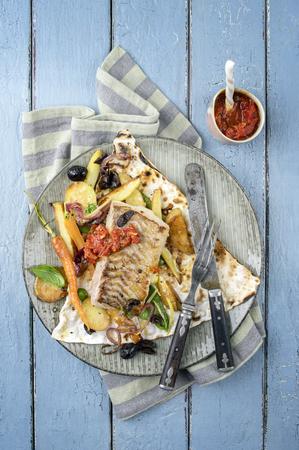 yufka: Codfish Filet with Vegetable
