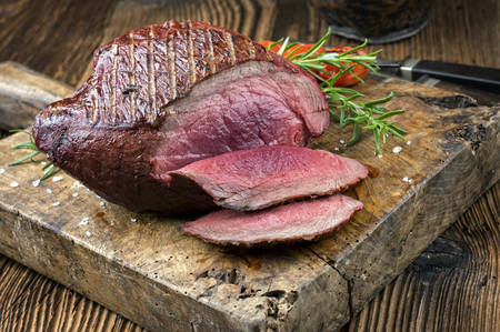 fillets: Barbecue Haunch of Venison Stock Photo