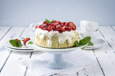 cream pie: Strawberry Cheese Cake