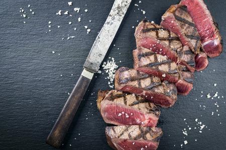 black angus: Black Angus Steak Stock Photo