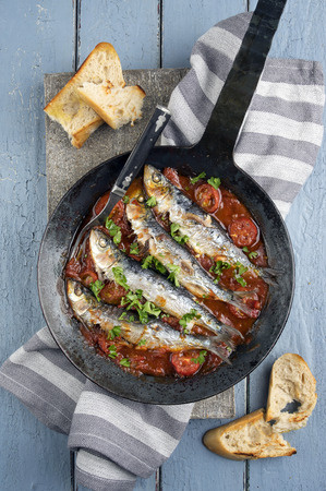 en: Sardine en Salsa Stock Photo