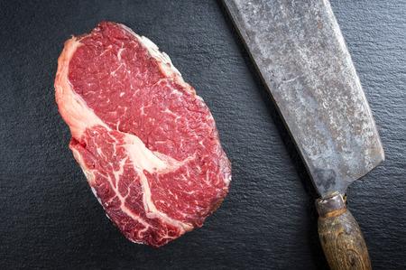 delikatesse: Dry Aged Entrecote Steak Stock Photo