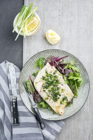 Koolvis Filet met gemengde salade