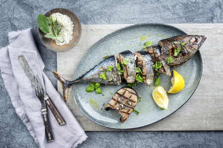 grilled fish: Sliced Barbecue Bonito