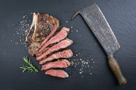 aged: Dry Aged Barbecue Cote de Boef Stock Photo