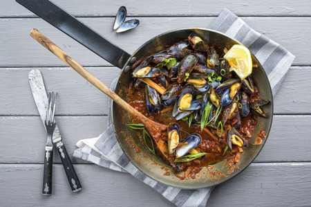 frying pan: Sailors Mussel in Frying Pan