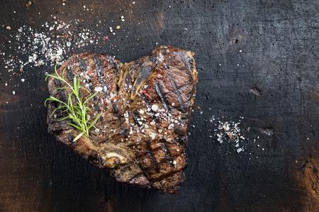 porterhouse: Dry Aged Barbecue Porterhouse Steak Stock Photo