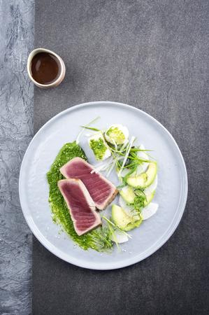 wasabi: Tuna Tataki with Vegetable and Wasabi Cream
