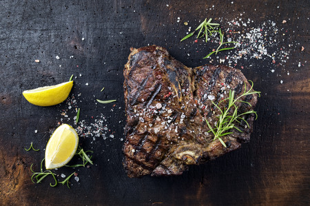 Dry Aged Barbecue Bistecca alla Fiorentina Stock Photo