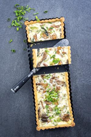 muster: Mushroom Mozzarella Tart