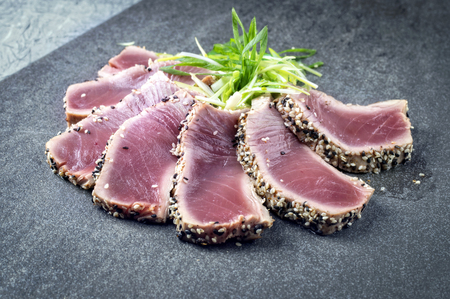 Tataki de atún Foto de archivo