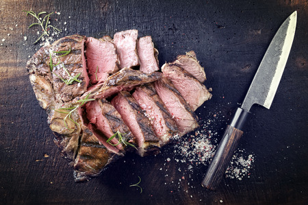 porterhouse: Dry Aged Wagyu Porterhouse Steak Stock Photo