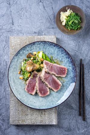 Tuna Tataki with Vegetable Reklamní fotografie - 57710075