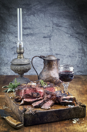 lampe: Dry Aged Barbecue Porterhouse Steak Stock Photo