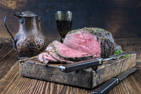 prime rib: Dry Aged Barbecue Roast Beef