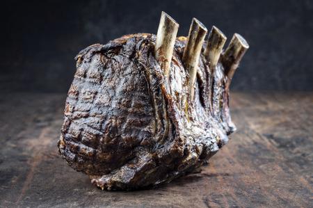 black angus: Dry Aged Barbecue Rib Roast