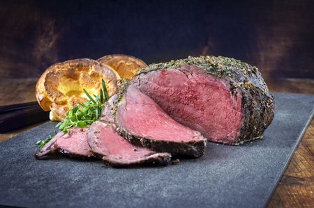 Dry Aged Roast Beef with Yorkshire Pudding