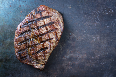 new york strip: Dry Agd Barbecue Entrecote Double Stock Photo