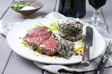 aged: Dry Aged Wagyu Steak Stock Photo