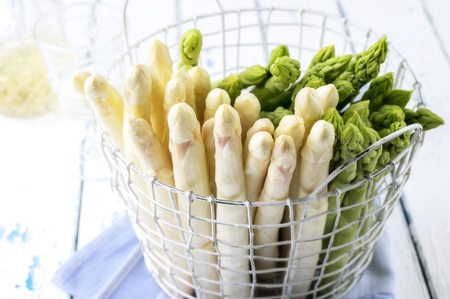 peeledoff: White and Green Asparagus in Basket