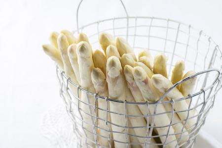 White Asparagus in Basket Фото со стока