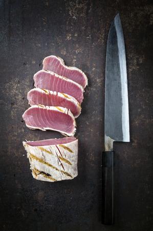 atun rojo: Filete de atún en edad Hoja