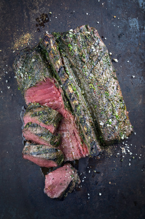 metal sheet: Saddle of Venison on old Metal Sheet