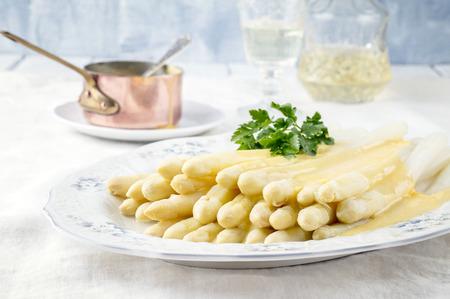white asparagus: White Asparagus on Plate