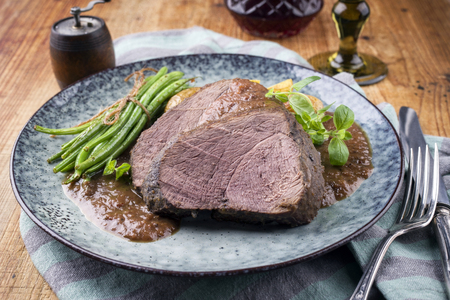 Roast Venison in Deer Sauce with Vegetable