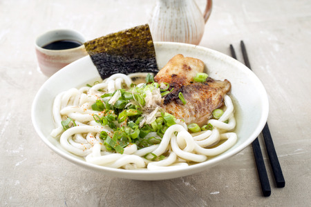dashi: Udon Fish Soup in Bowl