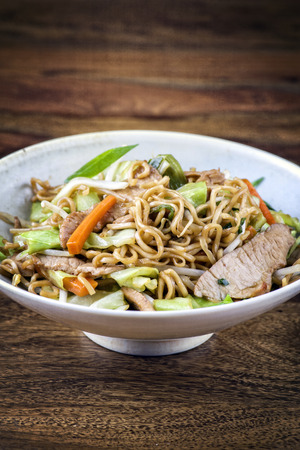 mie noodles: Chicken Yakisoba in Bowl