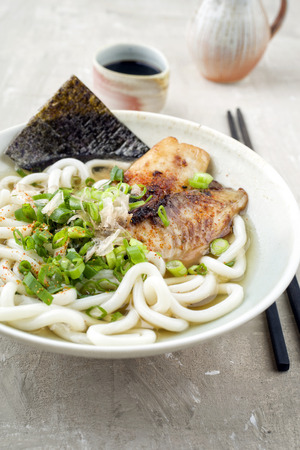 muster: Udon Fish Soup in Bowl
