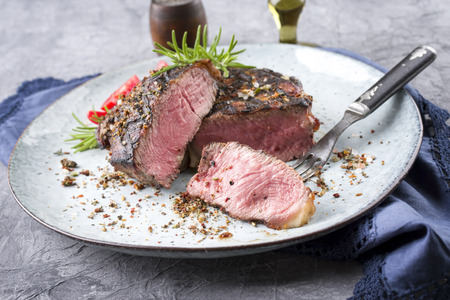 Barbecue Entrecote Steak on Plate