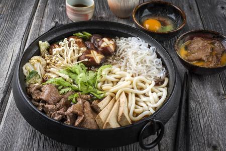 ei: Sukiyaki in traditional Japanese Cast Iron Pot